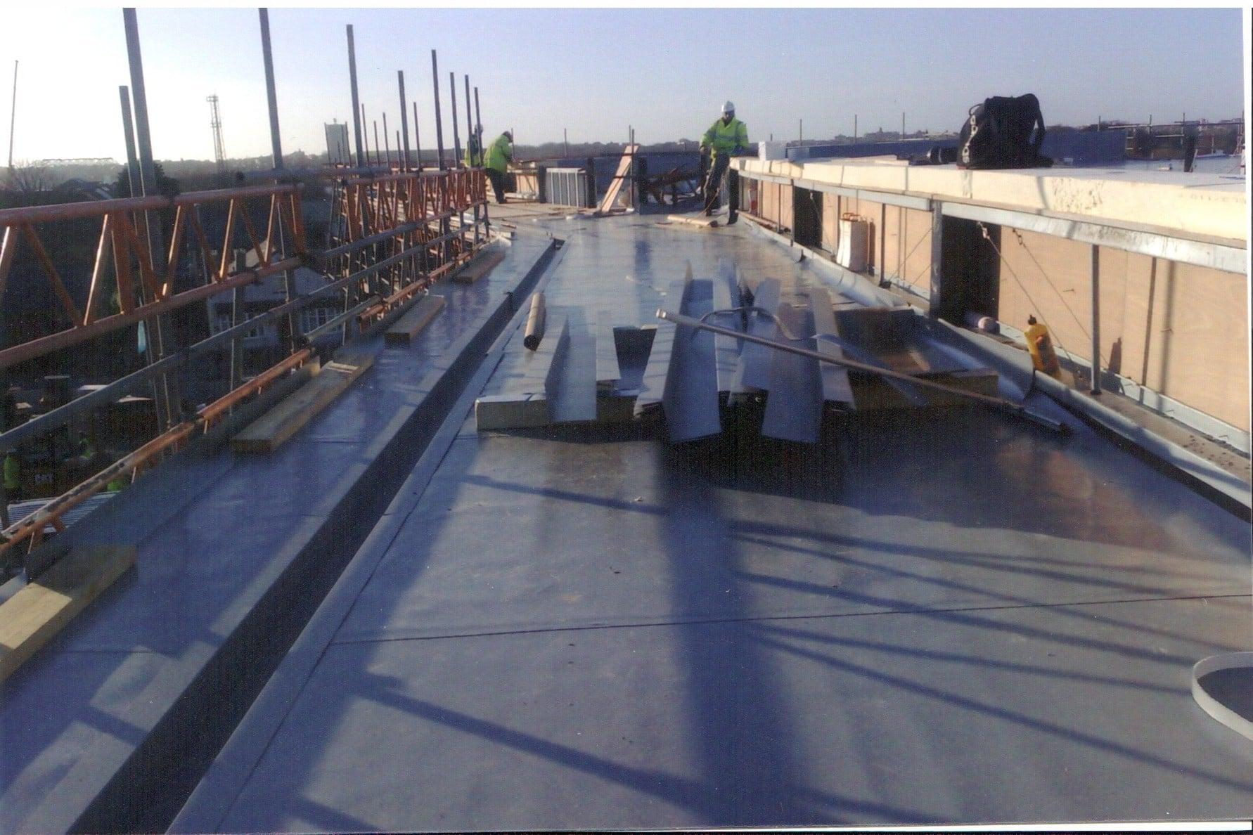 Industrial roof work