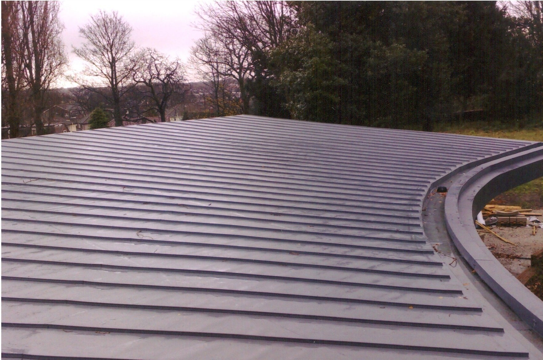 Industrial single ply membrane roofing