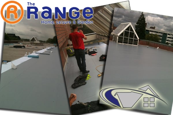 Roofing project carried out for The Range