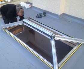 Building the roof lantern frame