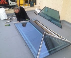Roof lantern near completion