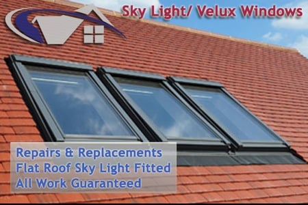 New Sky Lights and Velux Windows fitted
