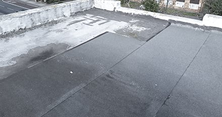 an old flat roof