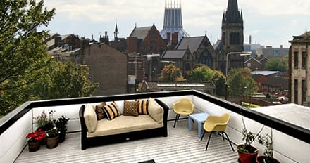 flat roof terrace in liverpool